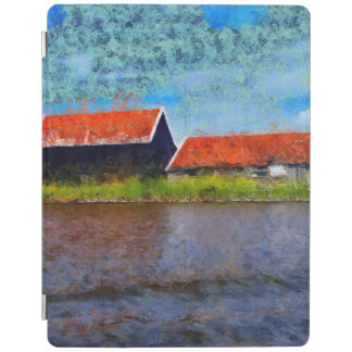 Sloping red roofs iPad cover