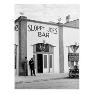 Sloppy Joe's Bar, Key West, 1930s Postcard