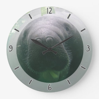 Sloppy Manatee Clock large round