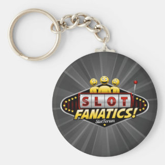 Slot Fanatics Basic Round Button Key Ring