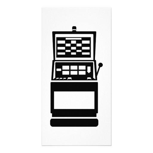 Slot machine casino photo cards