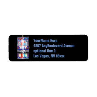 Slot Machine Casino Return Address Label