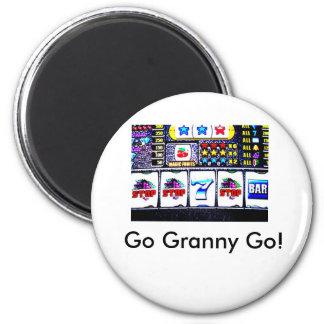 Slot machine, Go Granny Go! Magnet