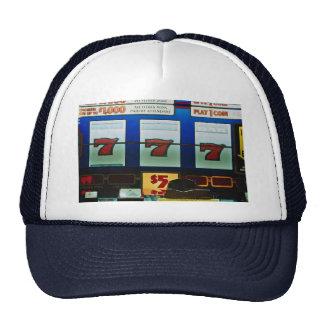 Slot machine in a casino trucker hats