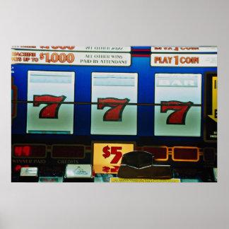 Slot machine in a casino posters