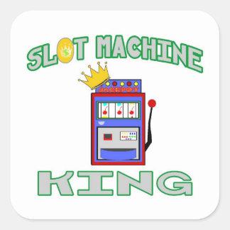 Slot Machine King Round Stickers