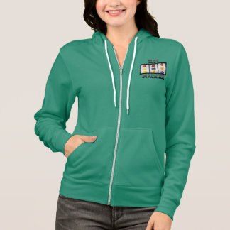 Slot Machine Motif American Apparel fleece hoodie