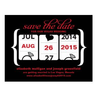 Slot Machine Save the Date - Wedding Postcard