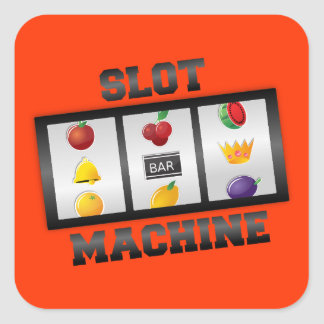 Slot Machine Square Sticker