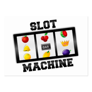 Slot Machine Tilted Icon Pack Of Chubby Business Cards