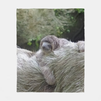 Sloth_20171104_by_JAMFoto Fleece Blanket