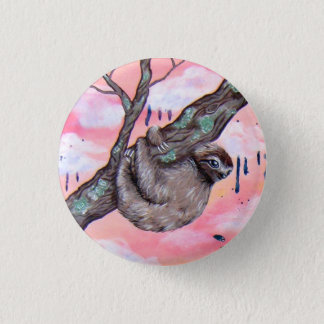 Sloth 3 Cm Round Badge