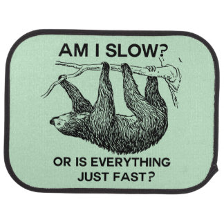 Sloth am I slow? Car Mat