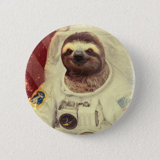 Sloth Astronaut Button