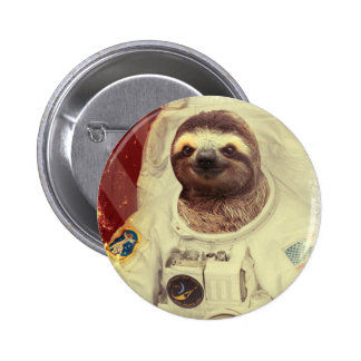 Sloth Astronaut Button
