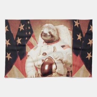 Sloth astronaut-sloth-space sloth-sloth gifts tea towel
