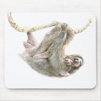 "Sloth, baby with mum ""Big Hugs"" Mouse Pad"