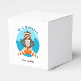 Sloth Be A Mermaid Favour Box