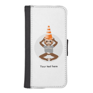 Sloth Be A Unicorn Road Cone iPhone SE/5/5s Wallet Case