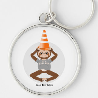 Sloth Be A Unicorn Safety Cone Key Ring
