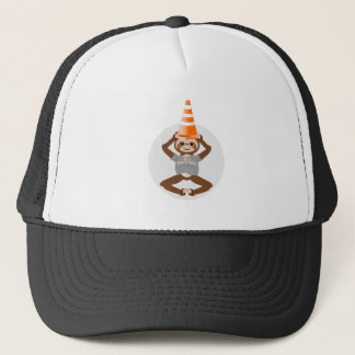 Sloth Be A Unicorn Safety Cone Trucker Hat