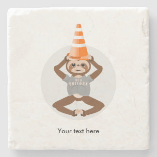 Sloth Be A Unicorn Stone Coaster