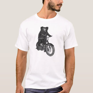 Sloth Bear on Motorbike T-Shirt