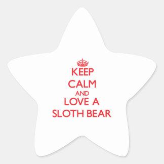 Sloth Bear Star Sticker