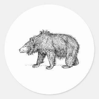 Sloth Bear Round Sticker