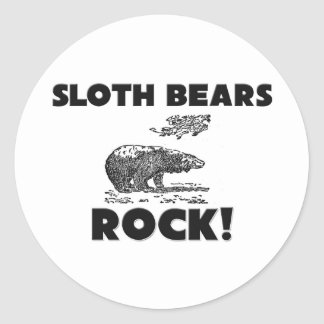 Sloth Bears Rock Stickers