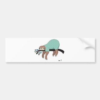 Sloth being lazy bumper sticker