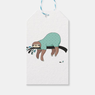 Sloth being lazy gift tags