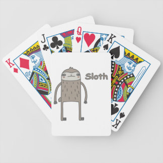 Sloth Bicycle Playing Cards