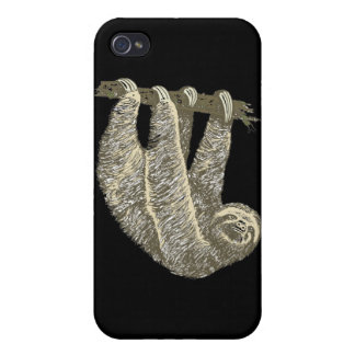 Sloth (Black) iPhone 4 Case