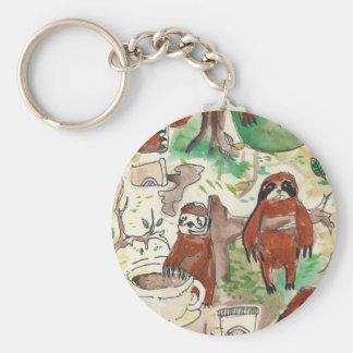 sloth coffee key ring