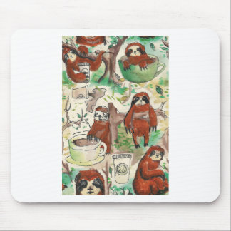 sloth coffee mouse pad