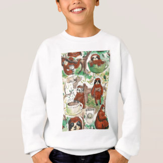 sloth coffee sweatshirt