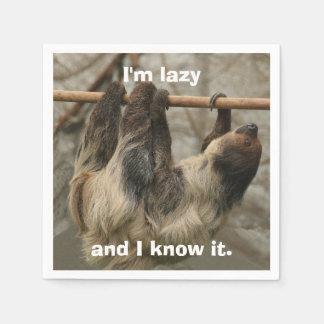 Sloth Disposable Serviette