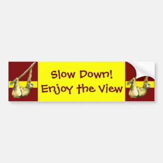 Sloth -Enjoy the view Car Bumper Sticker