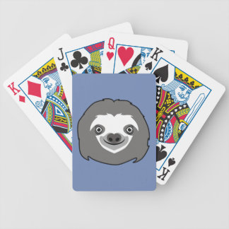 Sloth Face Bicycle Playing Cards