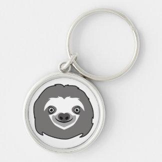 Sloth Face Key Ring