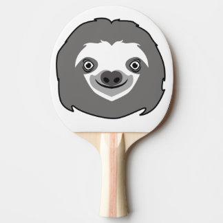 Sloth Face Ping Pong Paddle