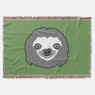 Sloth Face Throw Blanket