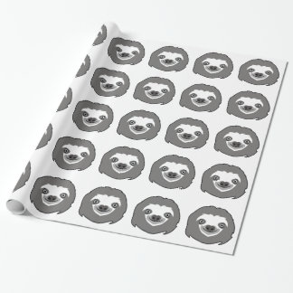 Sloth Face Wrapping Paper