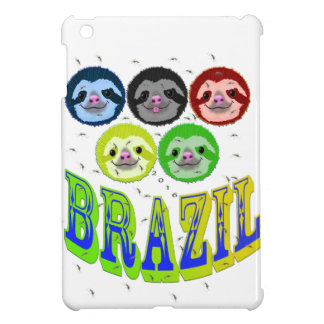 sloth faces brazil 2016 with mosquitos cover for the iPad mini
