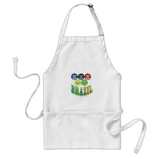 sloth faces brazil 2016 with mosquitos standard apron
