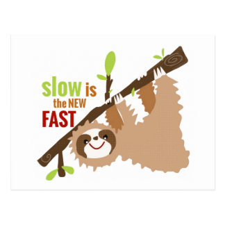 Sloth Gear - Slow is the New Fast Postcard