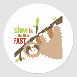 Sloth Gear - Slow is the New Fast Round Sticker
