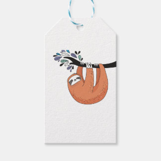 Sloth hang in there gift tags