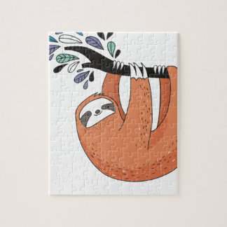 Sloth hang in there jigsaw puzzle